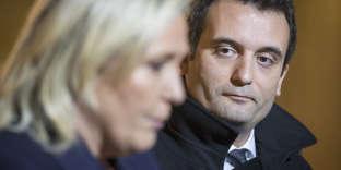 Marine Le Pen et Florian Philippot, le 15 novembre 2015.