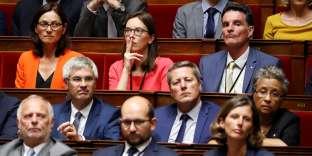 Amélie de Montchalin (au centre), députée La République en Marche de l'Essonne, à l'Assemblée nationale, le 27 juin.