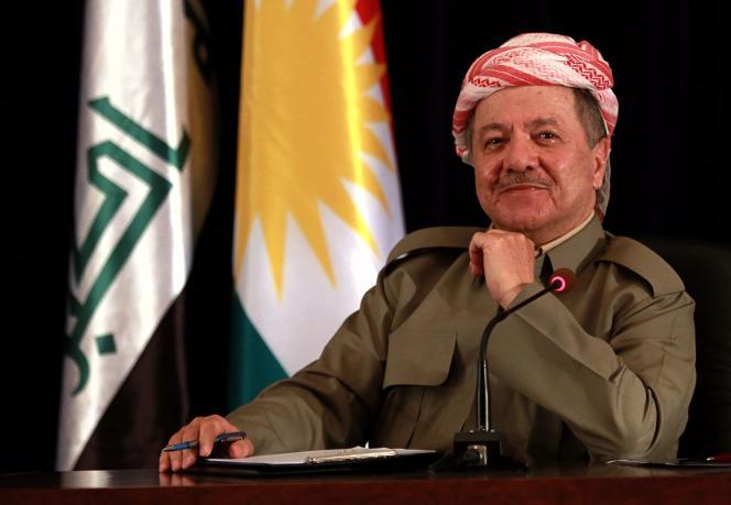 Le président de la région autonome du Kurdistan irakien, Massoud Barzani, à Erbil, le 24 septembre.