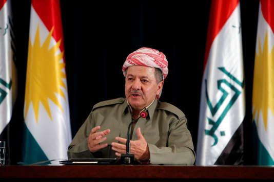 Le président de la région autonome du Kurdistan, Massoud Barzani, à Erbil, le24septembre.