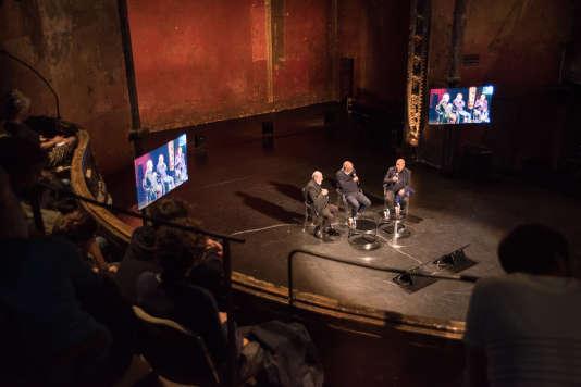 «L'art pour révéler le monde», avec Michelangelo Pistoletto et Christian Boltanski, modéré par Philippe Dagen au Monde Festival aux Bouffes du Nord, le 23 septembre.