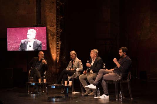 Débat avec Françoise Nyssen, Vincent Carry et Philippe Torreton aux Bouffes du Nord pour le Monde Festival,le 24 septembre.