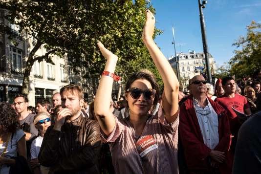 La manifestation des «insoumis» à Paris contre la réforme du travail, le 23 septembre.