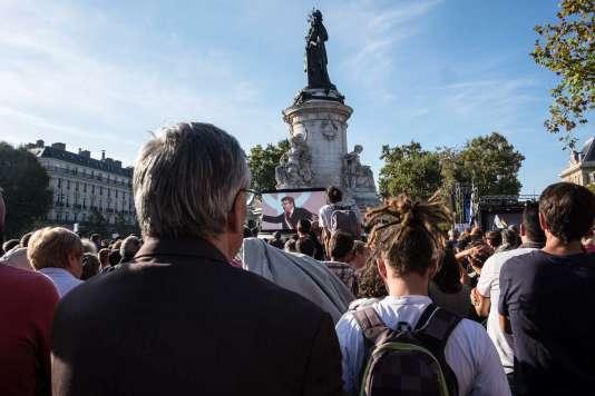 La manifestation des Insoumis contre la réforme du travail à Paris, le 23 septembre.