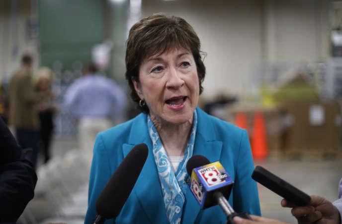 La sénatrice Susan Collins, élue républicaine du Maine, en août 2017.