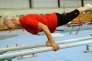 La gymnaste allemande Johanna Quaas (92ans cette année), lors de son entraînement hebdomadaire dans sa ville de Halle, dans le centre de l'Allemagne, le 6 novembre 2012.