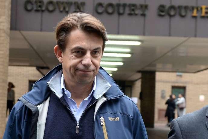 Carl Rogberg, le directeur financier de Tesco pour le Royaume-Uni, à Londres, le 25septembre,doit répondre des chefs d'accusation de trafic d'influence et de fausse comptabilité.
