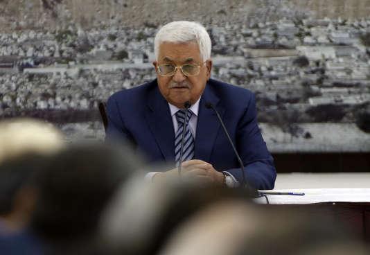 Mahmoud Abbas, président de l'Autorité palestinienne, le 25 septembre àRamallah.