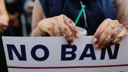 Manifestation contre le décret anti-immigration le 29 juin à New York.