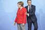 «Il faut arrêter avec cette fausse idée que les « bons Européens » veulent toujours plus d'Europe, partout, tout le temps»(Emmanuel Macron et Angela Merkel participent à la réunion des chefs d'Etat et de gouvernement des pays membres du groupe du G20 à Hambourg, Allemagne, le 7 juillet).