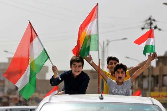 Scènes de liesse dans le Kurdistan irakien après le vote pour l'indépendance, le 25 septembre.