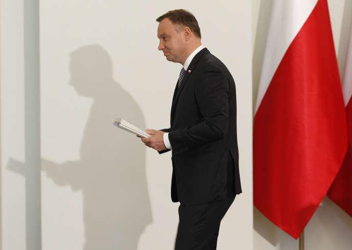 Andrzej Duda, à Varsovie, le 25 septembre.