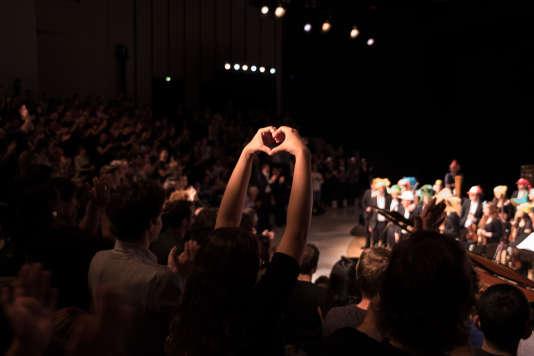 Concert symphonique de l orchestre Pixelophonia dans l amphiteatre de l opera Bastille lors de la soiree d ouverture du Festival du Monde, vendredi 22 septembre.