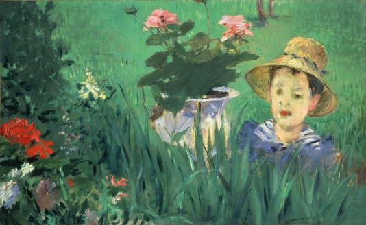Edouard Manet. Garçon dans les fleurs (Jacques Hoschédé), 1876.