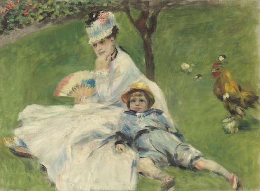 Auguste Renoir. Madame Monet et son fils, 1874, legs d'Ailsa Mellon Bruce Collection.