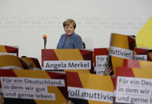 Angela Merkel, le 24septembre à Berlin.
