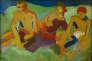 «Trois personnages assis dans l'herbe» (1906), huile sur toile. Paris, Musée d'art moderne.