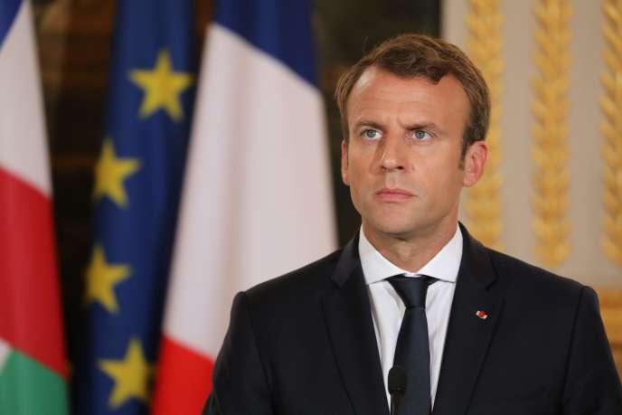 Emmanuel Macron à l'Elysée le 25 septembre.
