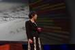 Noriko Arai, lors de la présentation des résultats du robot Todai.