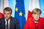 """« Les deux pays devraient peser de tout leur poids pour une simplification des règles budgétaires, avec, à la clé, moins d'intrusion de """"Bruxelles""""dans les affaires budgétaires des Etats». (Photo : Emmanuel Macron et Angela Merkel participent à un sommet sur les migrants, au Palais de l'Elysée, à Paris, lundi 28 août)."""