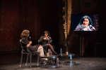 Marjane Satrapi en conversation avec Isabelle Regnier dans le cadre duMonde Festival aux Théâtre des Bouffes du Nord, le 24 septembre 2017.