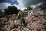 A San Juan Pilcaya (Mexique), maisons détruites par le séisme meurtrier du 19 septembre 2017.
