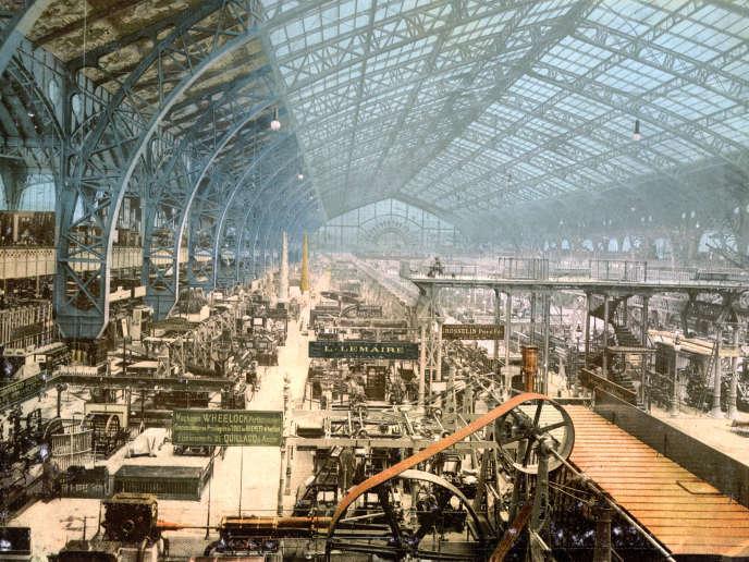 Exposition universelle de Paris, 1889 : la galerie des machines.