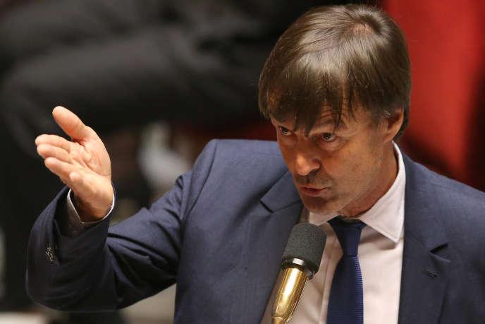Le ministre de la transition écologique, Nicolas Hulot, lors des questions au gouvernement à l'Assemblée nationale, le 26 septembre.