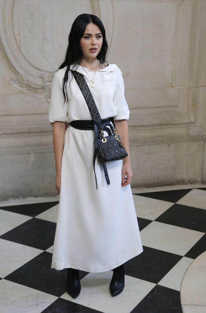 Kristina Bazan, avant un défilé Dior à Paris, le 26 septembre.