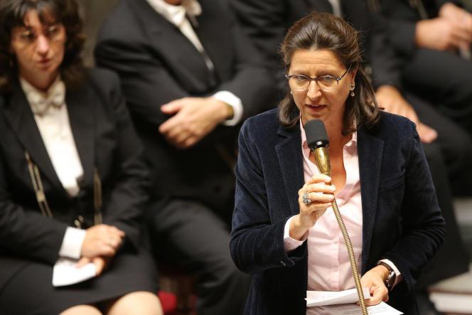 La ministre de la santé Agnes Buzyn, lors d'une séance de questions au gouvernement, le 26 septembre à l'Assemblée nationale.