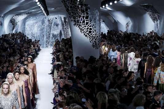 Défilé Christian Dior prêt-à-porter printemps-été 2018, à Paris, le 26 septembre.