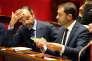 Le premier ministre Edouard Philippe et le porte-parole du Gouvernement Christophe Castaner lors d'une séance de Questions au gouvernement, à l'Assemblée nationale, à Paris, le 26 septembre.