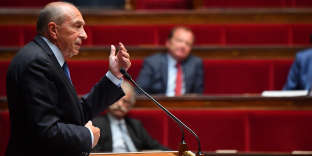 French Interior Minister Gerard Collomb attending Special Session at the National Assembly, with debates on the anti-terrorism bill in Paris, France, on September 25, 2017. Photo by Christian Liewig/ABACAPRESS.COM