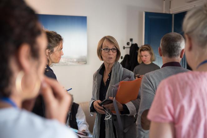 La ministe de la culture, Françoise Nyssen, aux Bouffes du Nord à Paris, le 24 septembre pour Le Monde Festival.