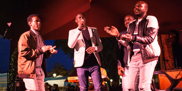 Les Soudan Célestins Music sur scène lors du festival Culture au quai, à Paris, le 23 septembre 2017.