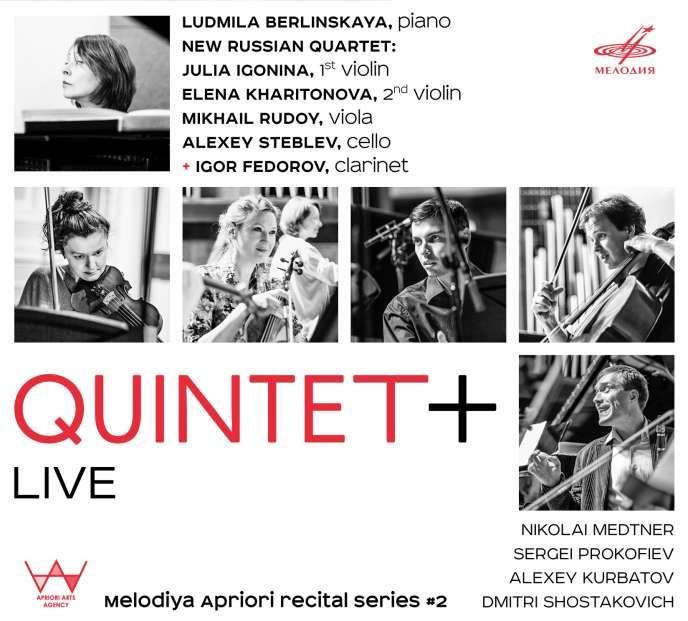 Pochette de l'album« Live», duQuintet +.