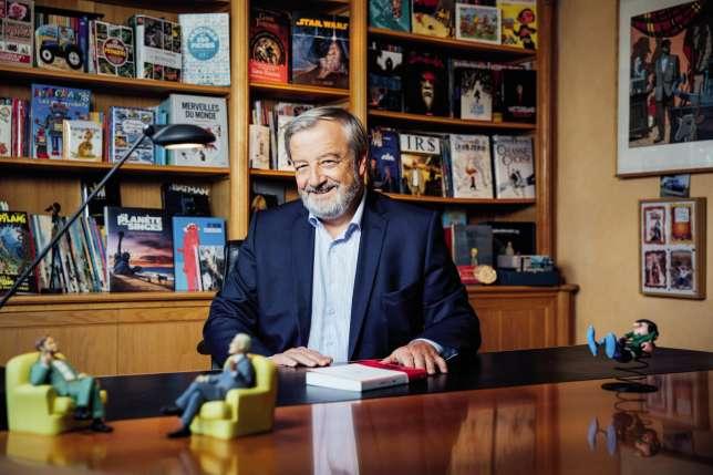 Vincent Montagne, le PDG de Média-Participations, vient de racheter les éditions du Seuil (ici, le 22 septembre, dans son bureau parisien).