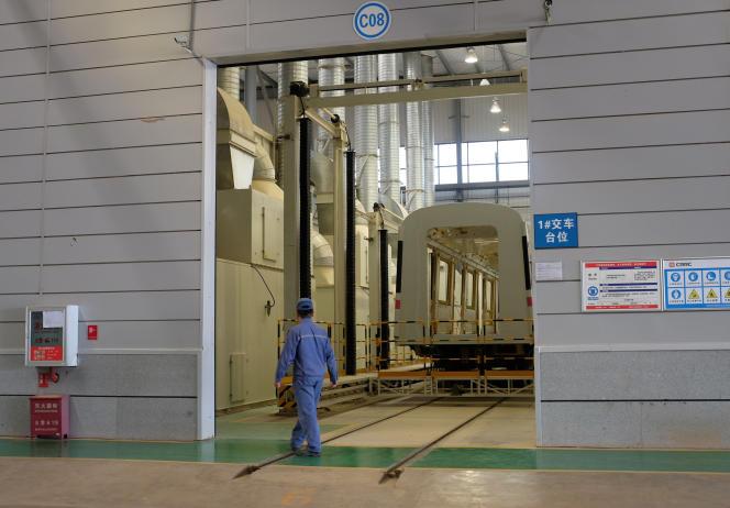 Une usine CRRC dans la province du Yunnan, en Chine, le 11 avril 2016.