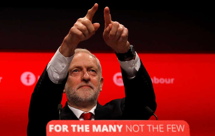 Jeremy Corbyn, le 27 septembre, à Brighton.
