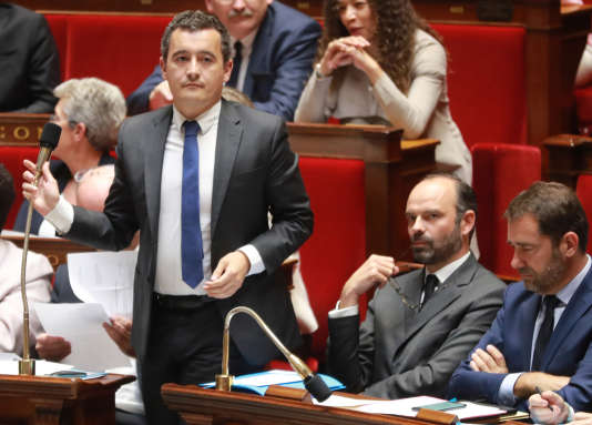 Gerald Darmanin ministre de l'Action et des Comptes publics et le Premier ministre Edouard Philippe le 26 juillet à Paris.