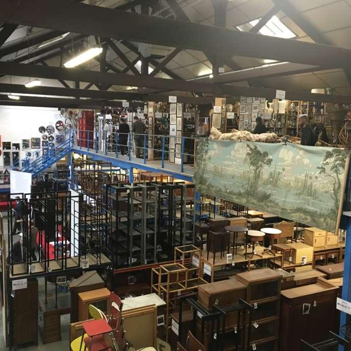 L'entrepôt de Locatema à Aubervilliers.