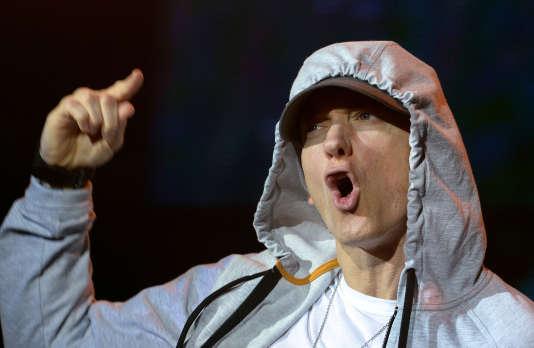 Eminem au Stade de France en Seine-Saint-Denis, le 22 août 2013.