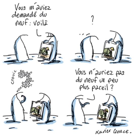 Le dessin de Xavier Gorce