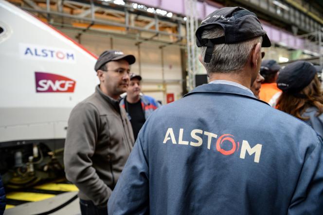 Site d'Alstom à Belfort, 22 février 2017.