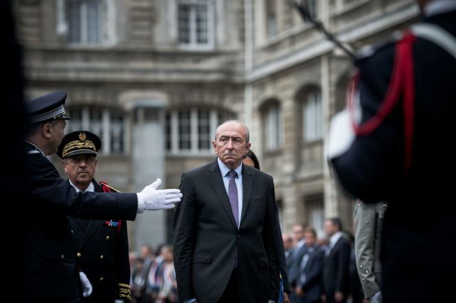 Le ministre de l'intérieur, Gérard Collomb, lors du 73eanniversaire de la libération de Paris, le 24 août, à Paris.