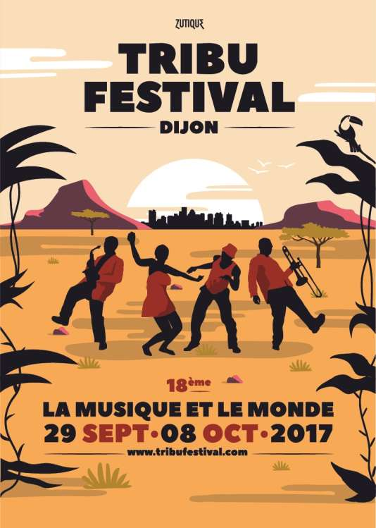 Affiche du Tribu Festival, à Dijon.