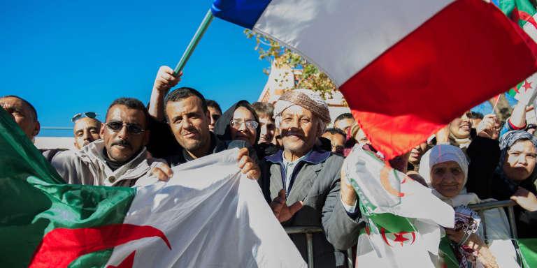 A Tlemcen, en Algérie, lors d'une visite du président français François Hollande, en décembre 2012.
