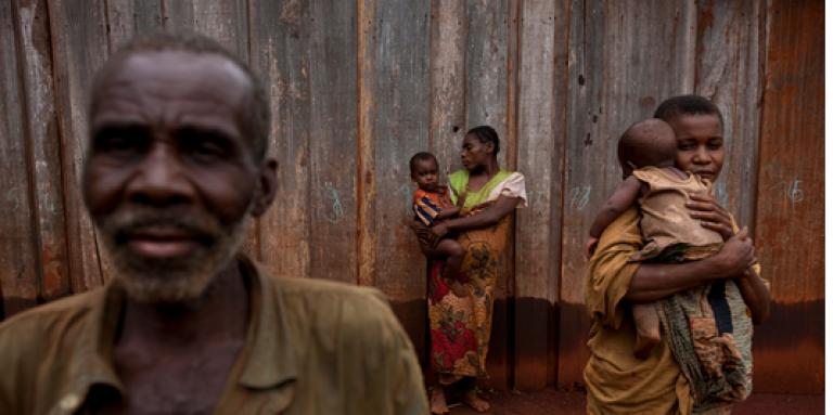 Des Pygmées Baka dans le bassin du Congo, au Cameroun.