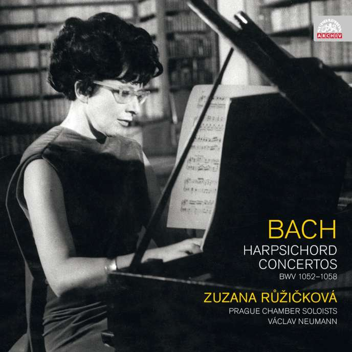 Pochette de l'un des albums de la clavecinisteZuzana Ruzickova consacré àl'œuvre de Bach.