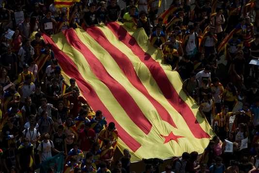 Manifestation dans les rues de Barcelone, jeudi 28 septembre.